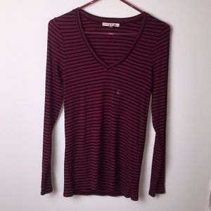 Express One Eleven maroon & black striped …